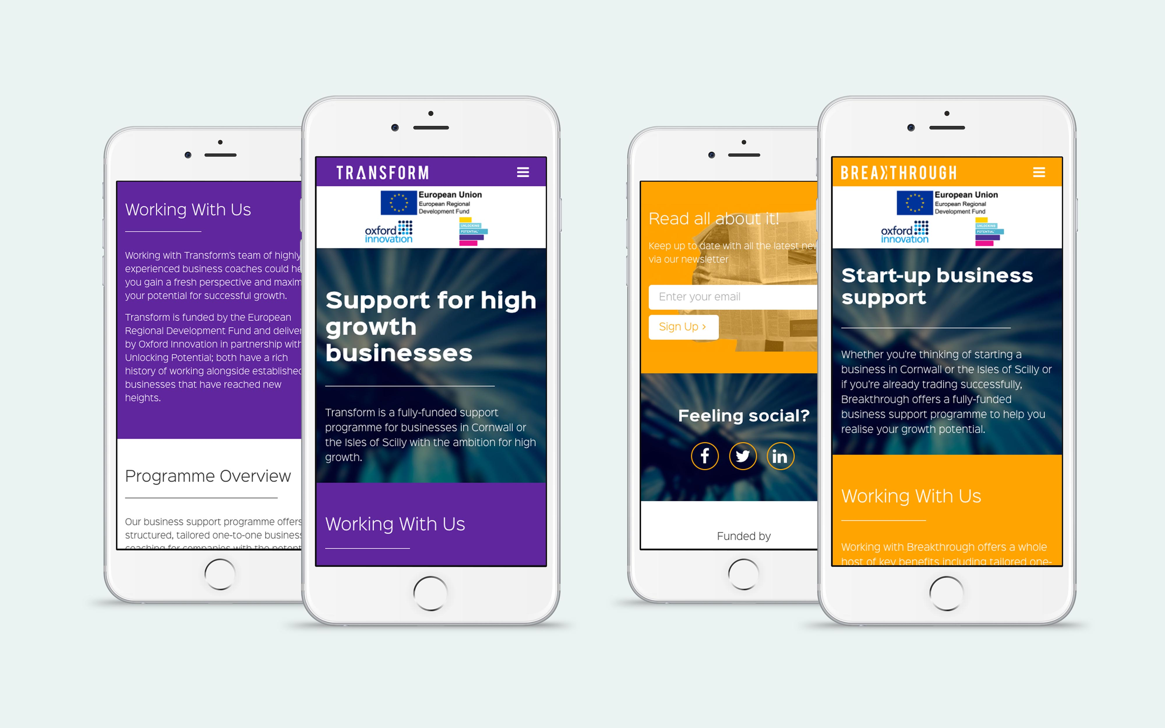 website design breakthrough & transform