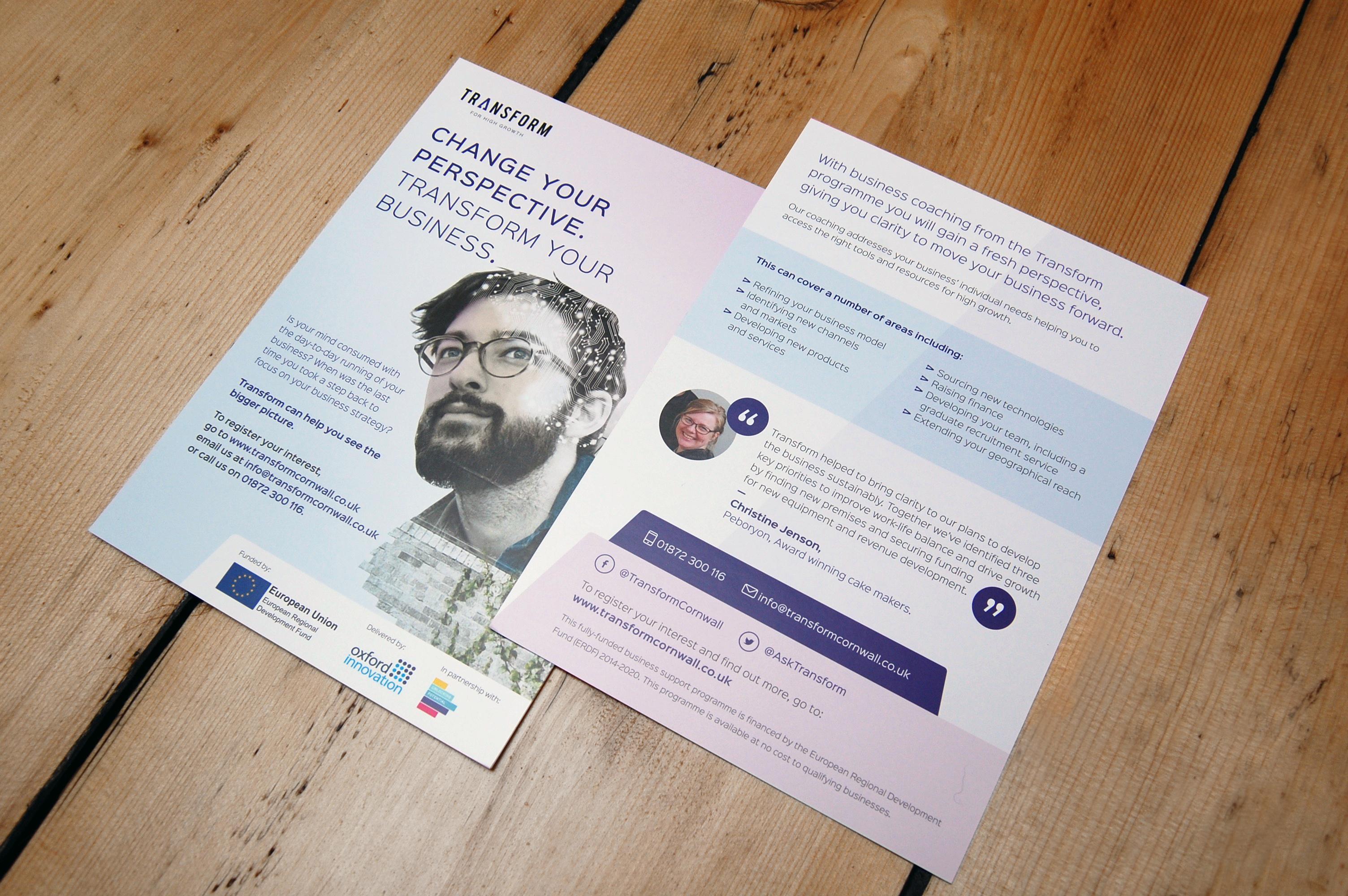 leaflet design transform cornwall