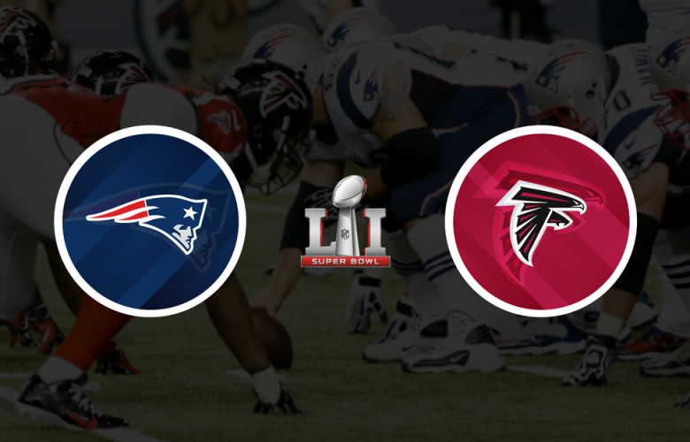 New England Patriots vs Atlanta Falcons in Super Bowl 51