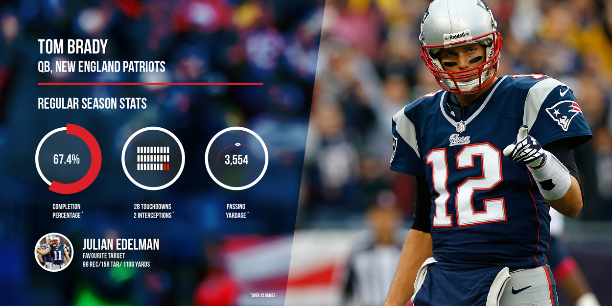 Tom Brady New England Patriots Regular Season Stats