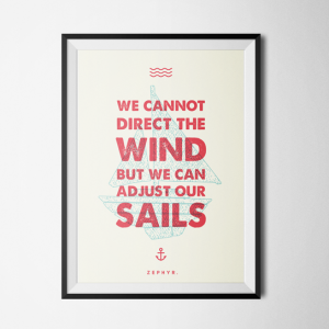 Nautical Quote Poster