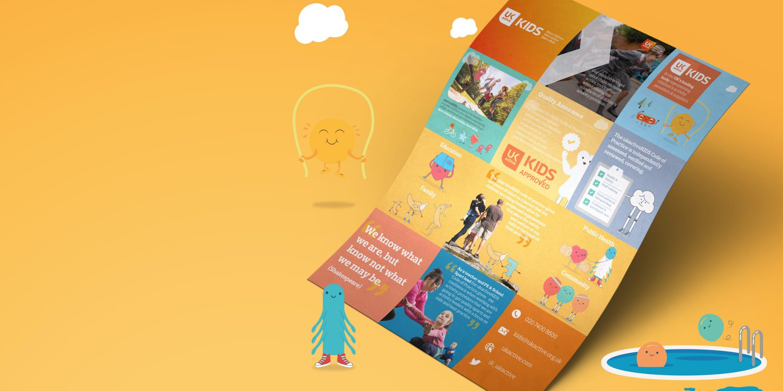 Ukactive Kids Booklet Design